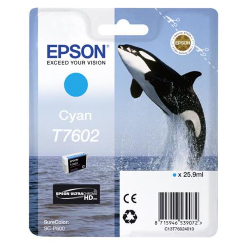 Epson-Tintenpatrone-cyan-T-7602