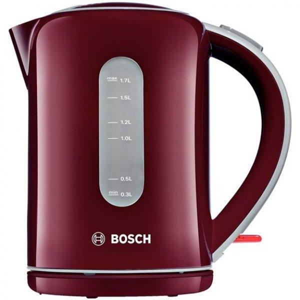Bosch Wasserkocher TWK7604 1,7 Liter 2200 Watt rot Antikalk-Filter