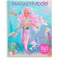 Depesche 11414 - Stickerbuch Dress me up Fantasy Model ca. 20 x 16 x 1 cm 24 illustrierte Seiten und 10 Blatt mit Stickern