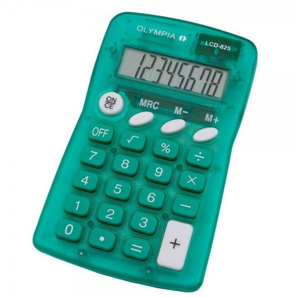 Olympia LCD 825 Taschenrechner grün 8-stelliges Display #4673