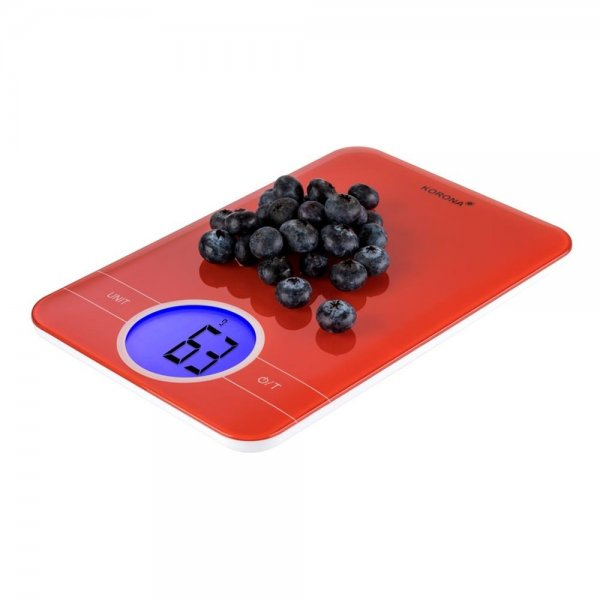 KORONA Digitale Küchenwaage KARLA Rot elektronische Haushaltswaage 5kg LCD Tara