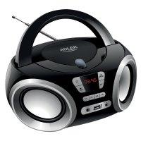 Adler AD 1181 CD Boombox FM Radio CD-Player MP3 USB / AUX Anschluß LCD Anzeige Batterie oder Strom
