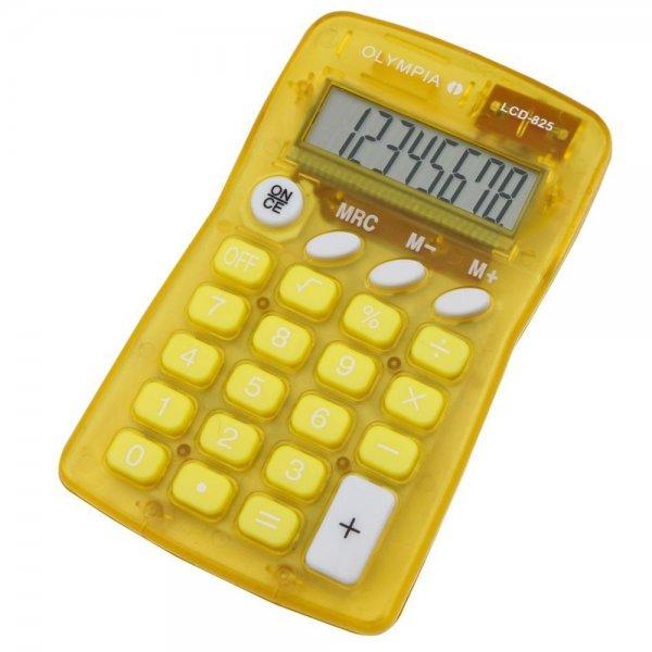 Olympia LCD 825 Taschenrechner gelb 8-stelliges Display #4672
