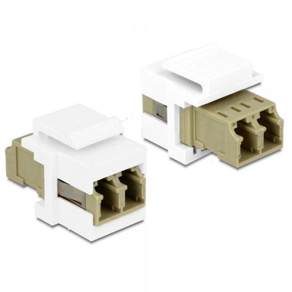 Delock Keystone Modul LC Duplex Buchse > Buchse