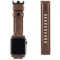 UAG Leather Armband Sportarmband Loop für Apple Watch 42/44mm aus Leder Braun