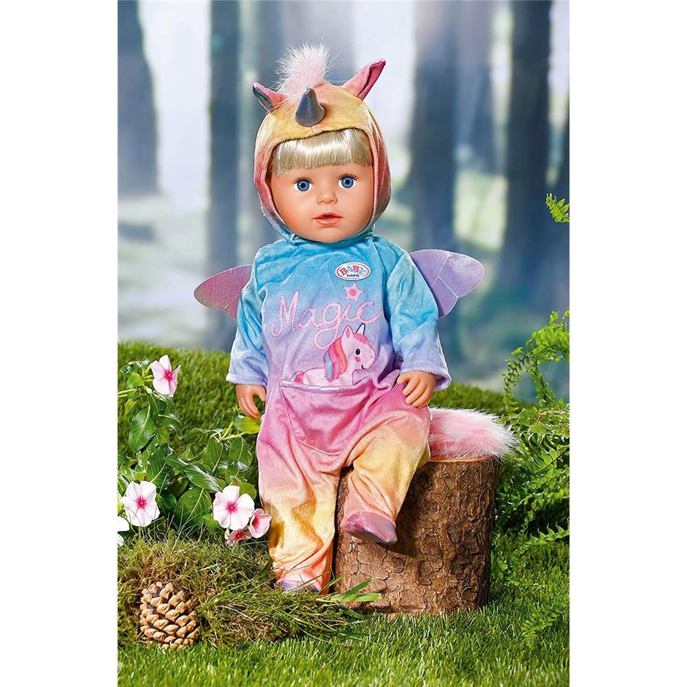 Puppenkleidung 43 cm Zapf Creation 828205 BABY born Kuschelanzug Einhorn
