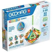 Geomag Supercolor Panels 52 Teile Magnetbausteine Magnetisches Konstruktionsspielzeug ab 5 Jahren