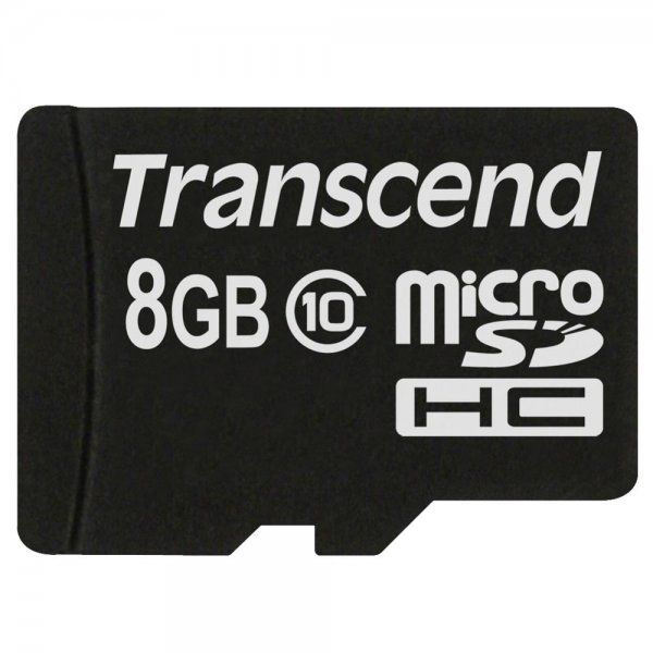 Transcend microSDHC 8GB Class 10 + SD-Adapter