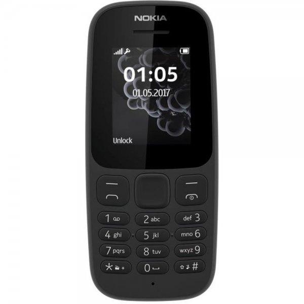 Nokia 105 Balken 4,57 cm (1.8 Zoll) 73 g 800 mAh Schwarz Funktionstelefon