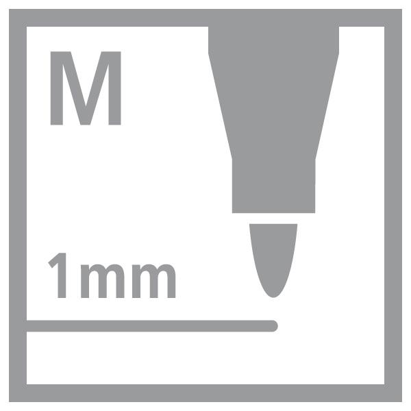 Permanent Marker STABILO Write4all M Folienstift Lackstift Lackmarker 4er Pack