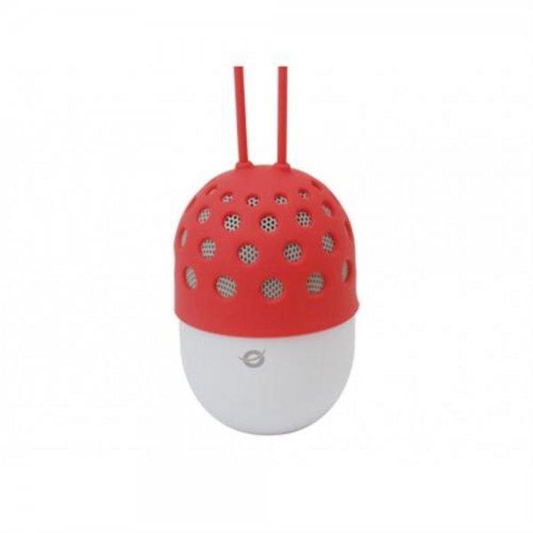 Conceptronic Wireless waterproof Bluetooth LED Lautsprecher Rot