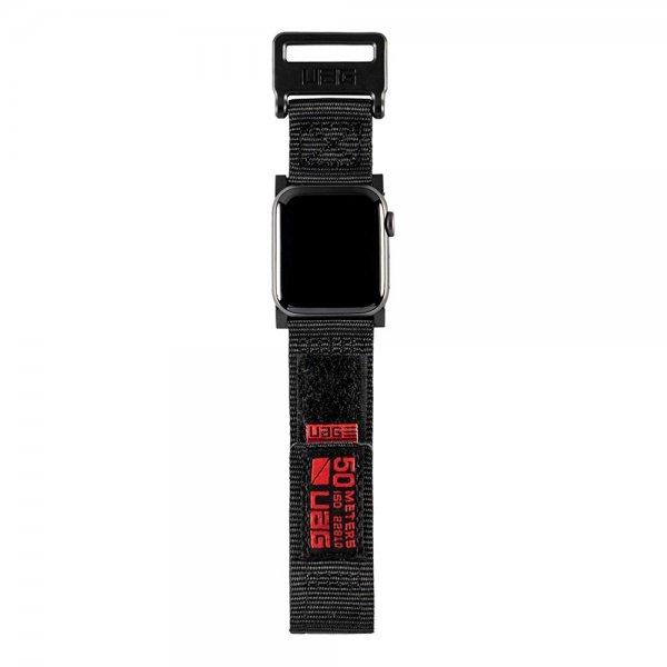 UAG Active Armband für Apple Watch 42mm/44mm Series 4/3/2/1 Ersatzband aus Nylon Schwarz