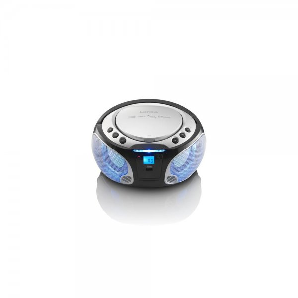 Lenco SCD-550 Radio CD Tragbare Boombox Discolichteffek