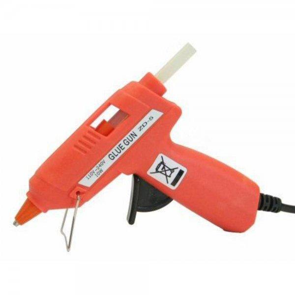 InLine Heißklebepistole Rot für 8 7.2mm Sticks Klebesticks Leimstab Heißkleber Klebepistole 170°C