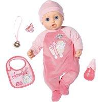 Zapf Creation Baby Annabell Puppe 43 cm rosa Mädchen mit lebensechten Funktionen und Zubehör