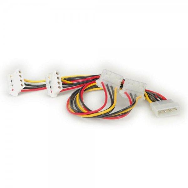 ROLINE Y-Kabel 4 pol. HDD / 4x 4 pol. HDD (90°)