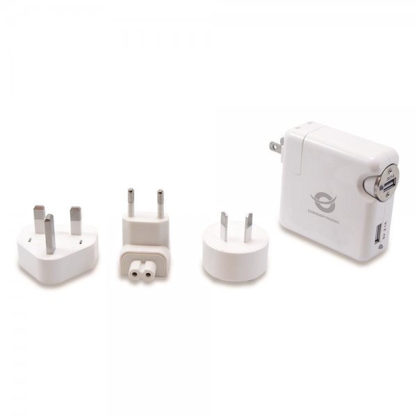 Conceptronic USB-Universalreiseladegerät im Set 2x USB