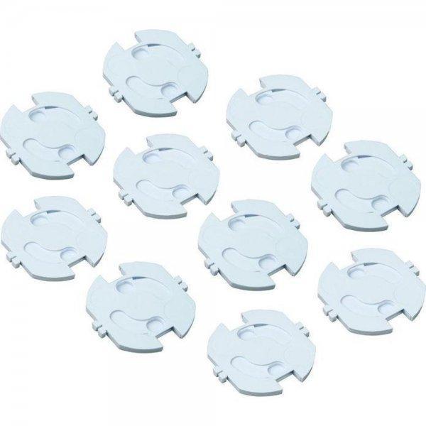 H+H KS 10 Steckdosensicherung zum Einkleben 10 Stück Kindersicherung Steckdose selbstklebend