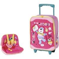 Zapf Creation 828441 BABY born Holiday Trolley mit Puppensitz Puppenzubehör pink bunt