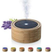 Medisana Aroma Diffusor AD 625 aus Bambus Vernebler mit Wellness-Licht für ätherische Duftöle Timer