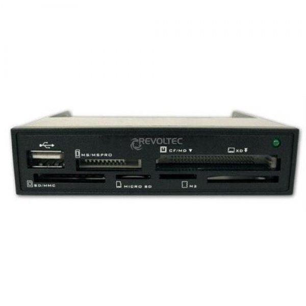 Revoltec USB Cardreader Kartenleser Frontpanel SD CF XD # RZ060