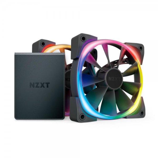NZXT Aer RGB 2 Starter Kit LED PWM Lüfter 2x 120mm + HUE 2-Beleuchtungssteuerung