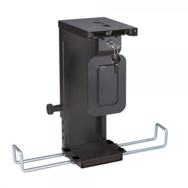 ROLINE Mini PC-Halter abschließbar schwarz Tischmontage bis 10kg
