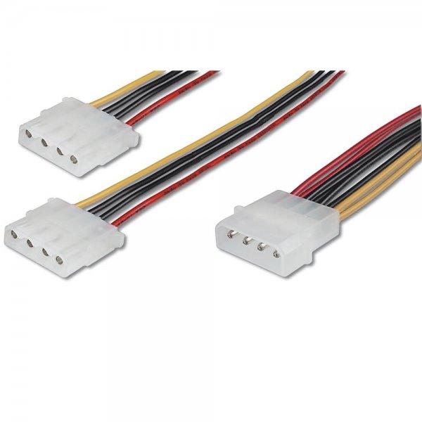 ASSMANN Internes Y-Stromversorgungskabel IDE Stecker/2x Buchse 0.2m