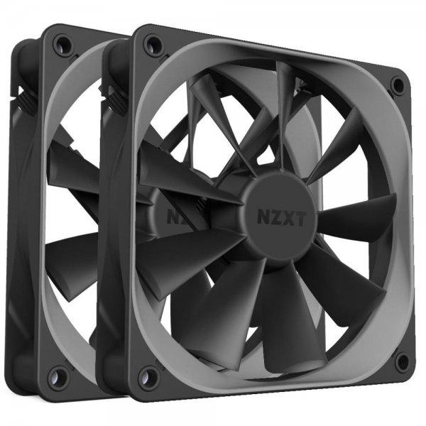 NZXT Aer F-Lüfter 2x 120mm Airflow PWM Luftkühler PC Gehäuselüfter Computer