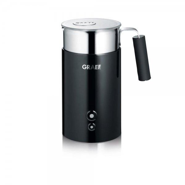 Graef Milchaufschäumer MS 702 Schwarz Edelstahl Milchschäumer 450W Latte Macchiato