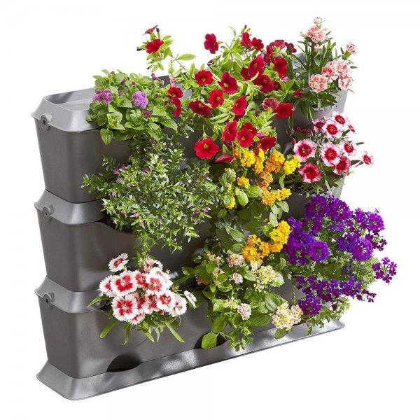 Gardena NatureUp! Basis Set Vertikal 13150-20 Pflanzgefäß Wetterfest Balkon Pflanzenwand