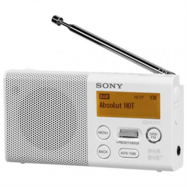 Sony XDR-P1DBPW DAB/DAB+ Taschenradio Stereo-Soundqualität über Kopfhörer Weiß
