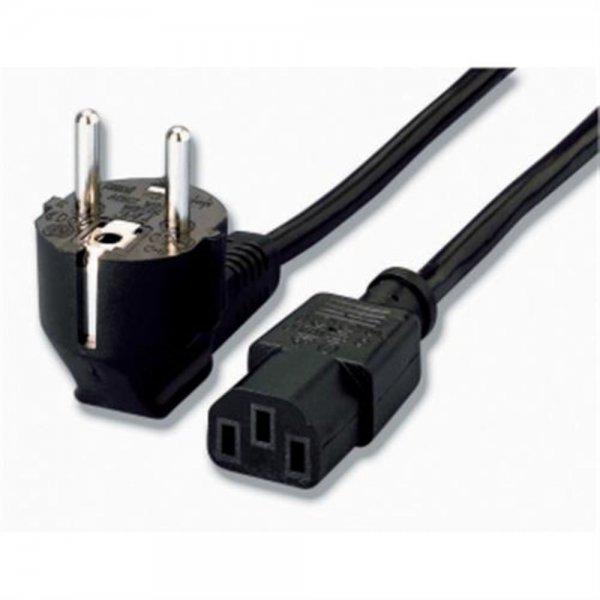 equip Standard-Stromkabel Netzkabel C13-Buchse zu Schutzkontakt-Stecker 1,8 m