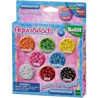 Aquabeads - 79168 - 800 Perlen Refill basteln Nachfüllpack spielen Kreativität bunt