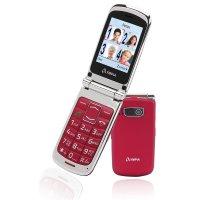 Olympia Style Plus Großtasten-Mobiltelefon Rot Farb-LCD-Display Grosstastenhandy Seniorenhandy