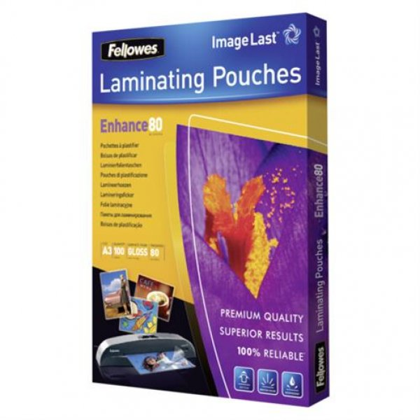 Fellowes ImageLast Laminierfolien 80 Mikron DIN A3 100er Pack hochwertig NEU