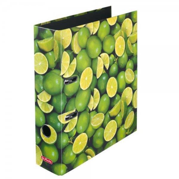 Herlitz 10485134 - Ordner DIN A4 8cm breit Limonen NEU