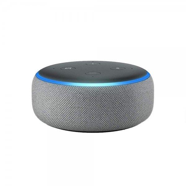 Amazon Echo Dot (3. Generation) intelligenter Lautsprecher mit Alexa Hellgrau-Stoff
