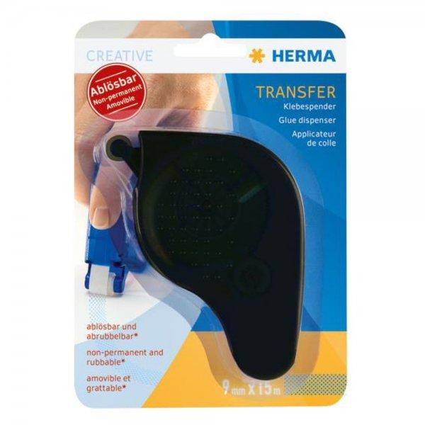 Herma transfer Klebespender ablösbar, schwarz 1060