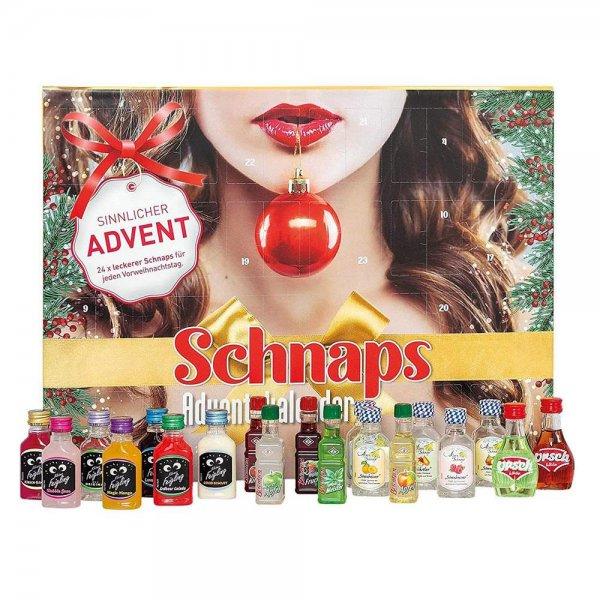 ROTH Schnaps-Adventskalender 2020 gefüllt mit Alkohol-Minis Likör-Kalender Nur für Erwachsene