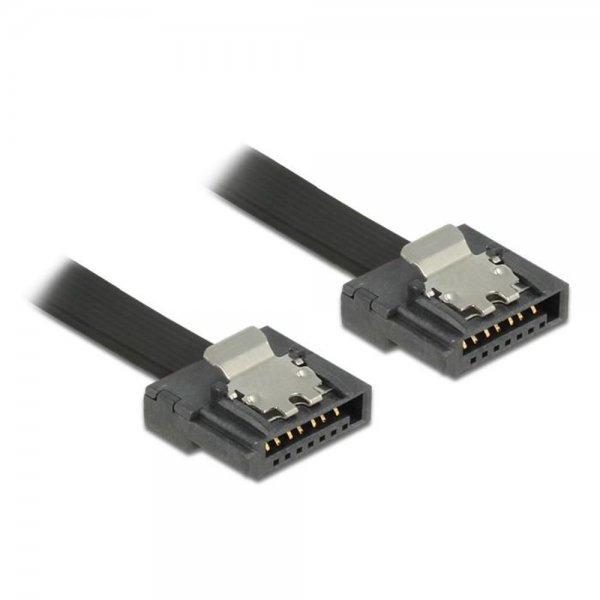 Delock Kabel SATA FLEXI 6 Gb/s 20 cm schwarz Metall