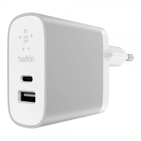 Belkin Netzadapter Netzladegerät USB-C/USB-A 27W Silber