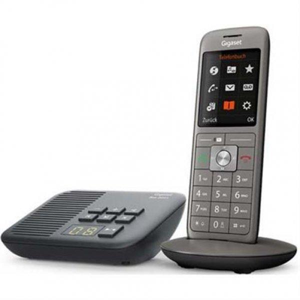 Gigaset CL660A DECT-Telefon mit Anrufbeantworter großes Farbdisplay Anthrazit Schwarz