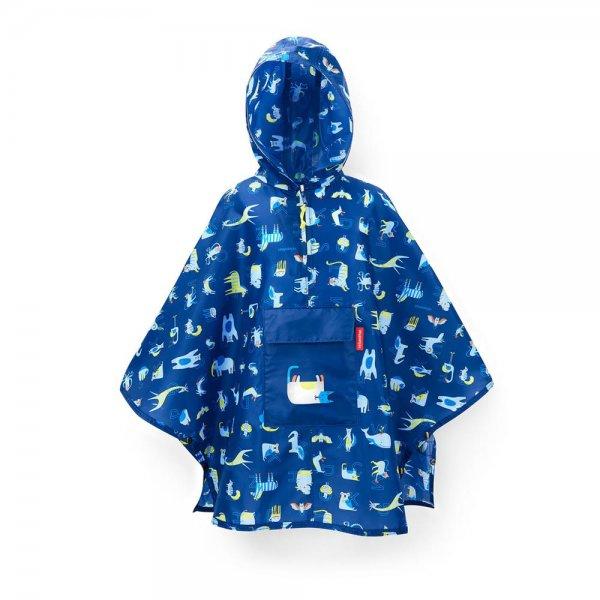 reisenthel mini maxi poncho kids abc friends blue Regenponcho Regencape Kinderponcho