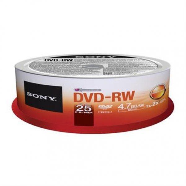 Sony DVD-RW DVD 4X 25ER SPINDEL # 25DMW47SP
