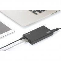 DIGITUS Universal Travel USB Ladestation 40W 2x USB A Quick Charge 3.0 USB C Ladegerät 3x Netzkabel