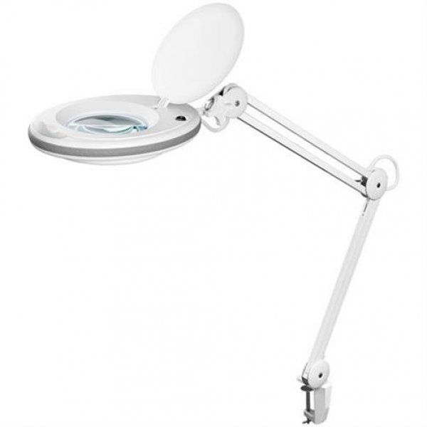 Fixpoint Kaltlicht LED Lupenleuchte 125mm Linse 3 Dioptrien Tageslicht 6400K