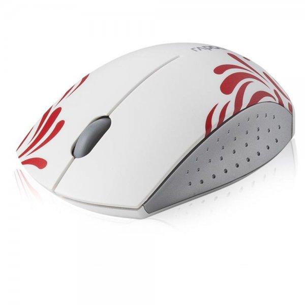 Rapoo 3300P - Wireless optische Mini Maus weiß 1000 DPI 5 GHz Nano-USB