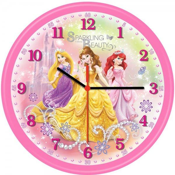 Technoline QWU Princess 4 Kinder Wanduhr Mädchen Prinzessin Uhr Rosa Pink Disney