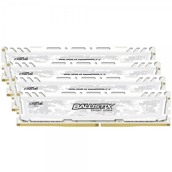 Ballistix Sport LT 16GB Kit DDR4 4GBx4 2400 DIMM 288pin white